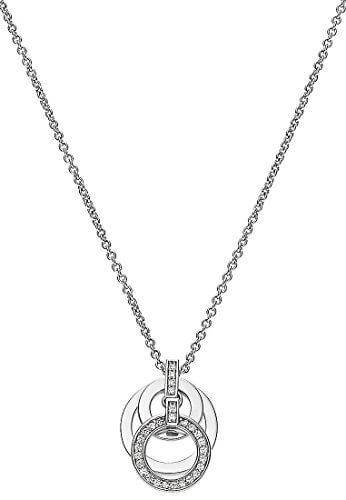 JETTE Silver Damen-Kette 925er Silber 28 Zirkonia One Size, silber