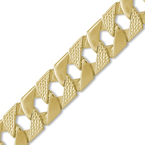 Jewelco London 9K Gold Eidechse Kandare 22mm Guss Halskette