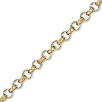 Jewelco London 9K Gold graviert Guss belcher 8.5mm Halskette