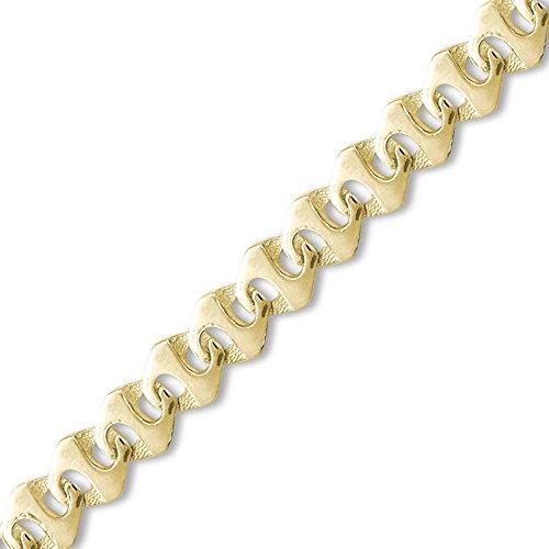 Jewelco London 9K Gold rangoon z Link 12.5mm Guss Halskette