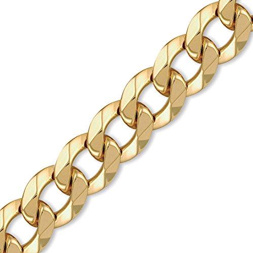 Jewelco London 9K Gold schweres Gewicht Bordsteinkante Link 20mm Halskette