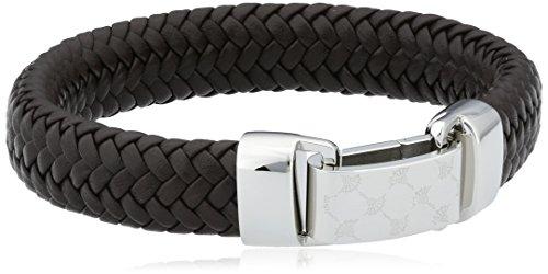 Joop Herren-Armband Edelstahl Leder 21.5 cm – JPBR10620B215