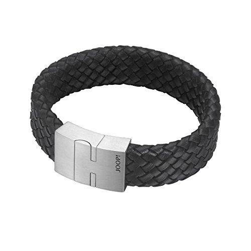 Joop! Herren-Armband JP-M SIGN Lederarmband Leder 21.5 cm-JPBR10666A215