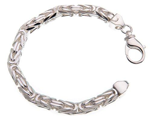 Königskette Armband 7mm – 925 Silber – Länge 20-25cm