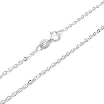 KONOV Schmuck Damen-Kette, 925 Sterling Silber, 2mm Klassiker O Link Halskette, Silber – Breite 2mm – Länge frei wählbar