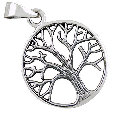 Lebensbaum Anhänger aus 925-Silber