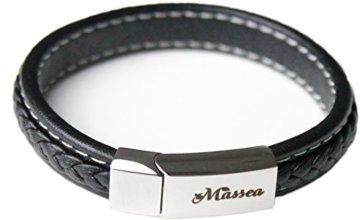 Massea Lederarmband mit Edelstahl Magnetverschluss – Armband