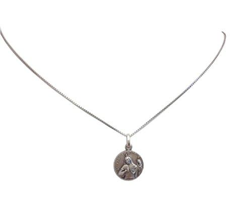 Medaille des Heiligen Judas Thaddäus Apostel In Sterling Silber 925 mit Kette Sterling Silber 925