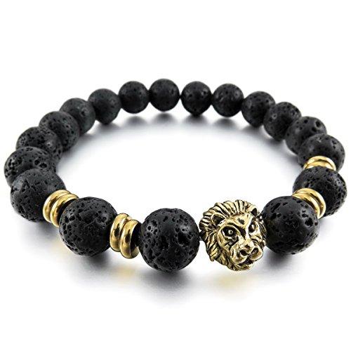 MunkiMix 10mm Metalllegierung Legierung Energiearmband Energie armband Link Handgelenk EnergieStein Löwe Buddha Gebet Mala Kugel Perle Perlen Elastisch