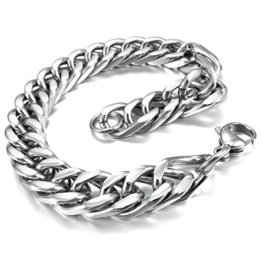 MunkiMix Edelstahl Armband Link Handgelenk Silber Ton Herren