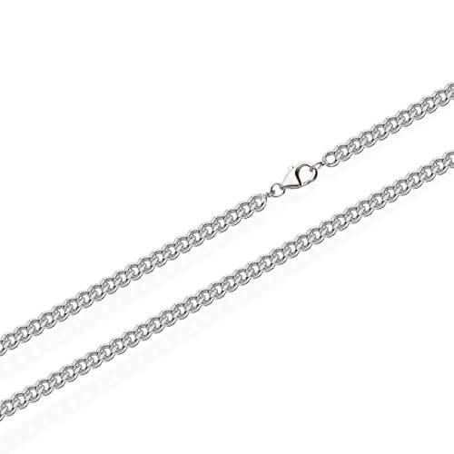 NKlaus 925 Sterling Silber Kette PANZERKETTE Königskette 2,40mm breit4