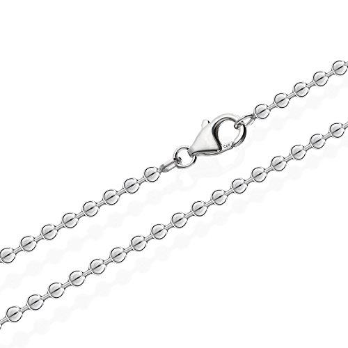 NKlaus 925 Sterlingsilber Kugel Kette für Anhänger Silberkette 3,00mm breit