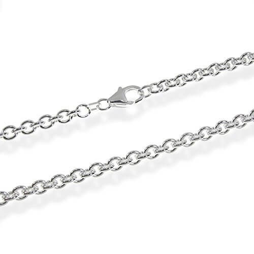 NKlaus ANKERKETTE 925 Sterling Silber Kette Rund MASSIV Collier 4,00mm breit