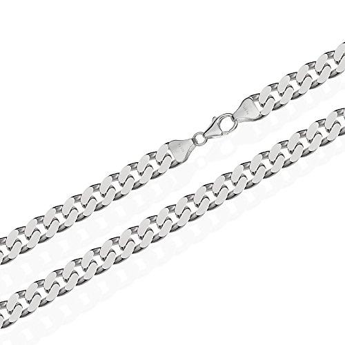 NKlaus Echt 925 Sterling Silber Silber Panzerkette Massiv 7,00mm breit