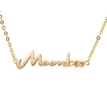 Namenskette Buchstabenkette Anfänger Kette Halskette Buchstaben Schreibschrift Personalisiert mit Ihrem Wunschbuchstaben 45cm