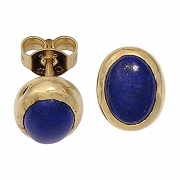Ohrstecker 585 Gelbgold 2 Lapislazuli blau