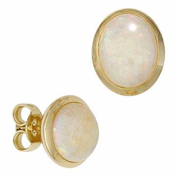Ohrstecker 585 Gelbgold 2 Opale