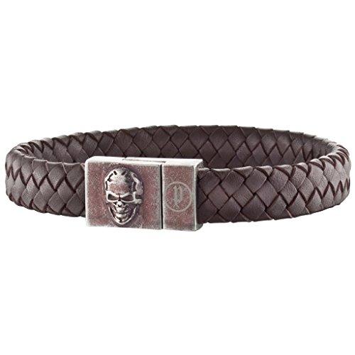 POLICE PJ25686BLC-02-S Herren Armband ETERNAL Edelstahl Leder braun 20,5 cm