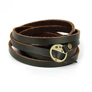 "Paper-Ship Armband ""Monaco"" – Wickelarmband aus Leder, verstellbare Größe"