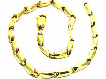 Pegaso Gioielli–Armband gold gelb 18kt Segment Herren Damen Jungen cm 19