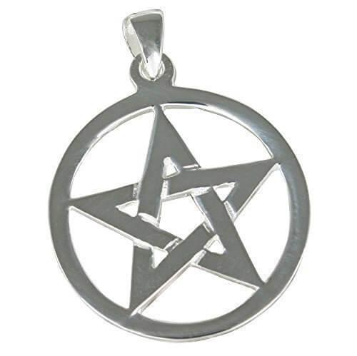 Pentagramm Anhänger aus 925-Silber