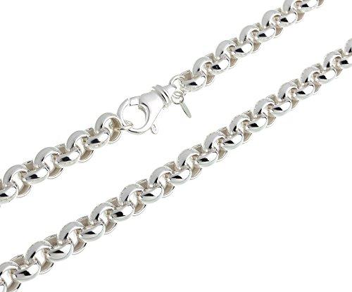 Runde Erbskette – 10mm Breite – Länge wählbar 40cm-100cm – echt 925 Silber