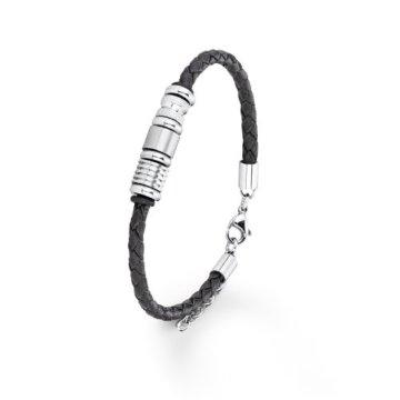 S. Oliver Herren-Armband Titan Leder 38361