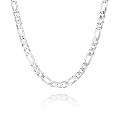 STERLL Herren Halskette aus massivem 925 Silber, ideal als Geschenk für Mann oder Freund, mit Schmuckbox