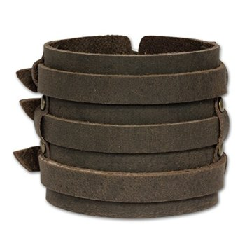 SilberDream Lederarmband braun Herren Leder Armband Echtleder LA1772