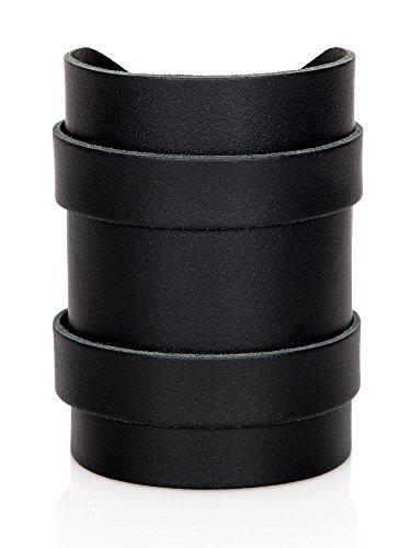 Stylez-Connection Lederarmband schwarz EXTRA BREIT Herren Leder Armband