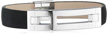 Tommy Hilfiger Herren-Armband Edelstahl Leder 22 cm-27008
