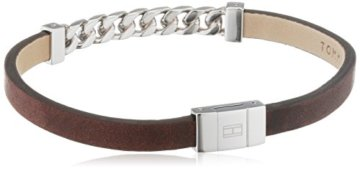 Tommy Hilfiger Jewelry Herren-Armband Men's Casual Edelstahl Leder 20.5 cm – 2700953