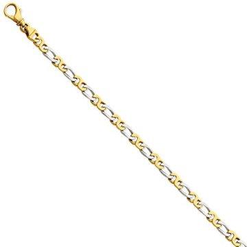 Two-Tone Armband Schmuck Kette Lust auf Gold Link feine Geschenk 14k Männer –