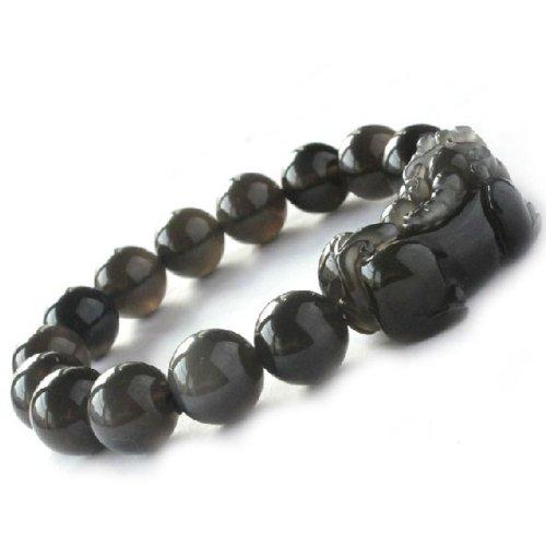 Ufingo Jewelry – Natural Ice Obsidian Perlen Armbänder, Amulette Brave Troops Armbänder