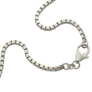 Venezianerkette 925 Sterlingsilber Rhodiniert Diamantiert Breite 1,80mm Unisex Silberkette Halskette NEU