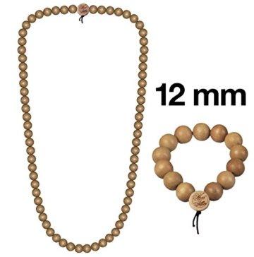 WOOD FELLAS Unisex Deluxe Holz-Perlenarmband und -halskette im Set