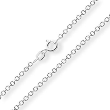 Ankerkette 925 Sterlingsilber Weiss Rund Breite 2,00mm Unisex Silberkette Halskette Collier NEU -