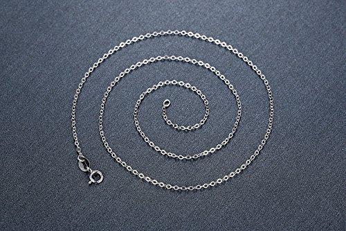 Aoiy Damen-Halskette mit Anhänger, Sterling Silber, 1.96 Karat Natürlicher ovaler roter Granat, für Mädchen und Frau, 45cm Kette, zfp011ho -