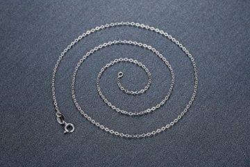 Aoiy Damen-Halskette mit Anhänger, Sterling Silber, Farbwechsel Mitternachtsblau Österreichischer Kristall Würfel und Klar Zirkonia, für Mädchen und Frau, 45cm Kette, zhp028la -