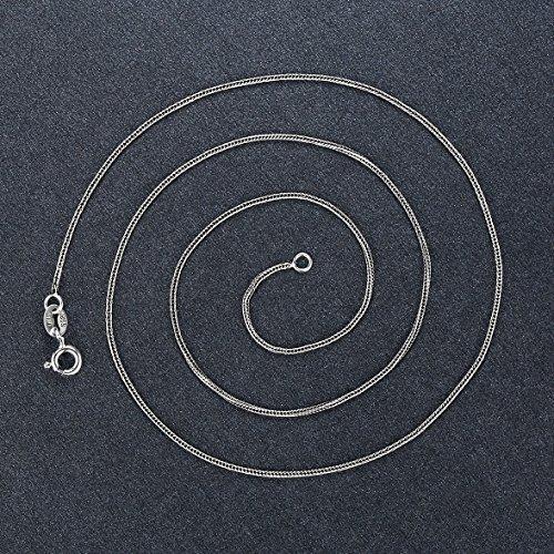 Aoiy Damen-Halskette mit Anhänger, Thai Sterling Silber Oxidiert, Astrologie Horoskop Sternzeichens Gemini Zwillinge, für Mädchen und Frau, Antikes Ende, 45cm Kette, zgp003wu -