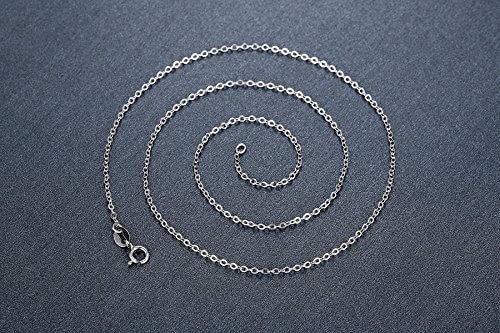 Aoiy Unisex-Halskette mit Anhänger, Sterling Silber, Kreuz Axt, Für Frauen oder Männer, zkp006bi -