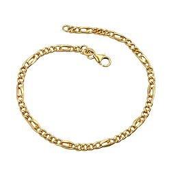 Armband, Figarokette 19cm, 9Kt GOLD -