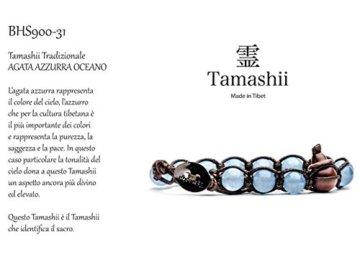 Armband tibetische buddhistische Tamashii Achat Ocean Blue bhs900–31mainapps -