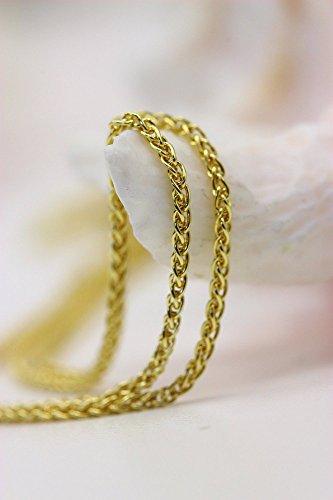 ASS 333 Gold Armband Zopfkette hohl Zopf 19 cm 3 mm Goldkette 8K -