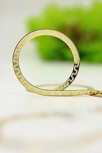 ASS 925 Sterling Silber Armband modisches Muster 19 cm, 3,5mm vergoldet. Neu. Italien -