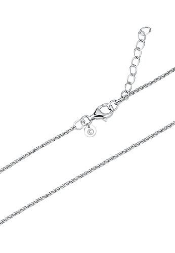 C-Collection by CHRIST Damen-Kette 925er Silber 21 Kristall One Size, silber -