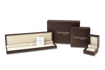 Carissima Gold 18ct White Gold Diamond Cut Curb Adjustable Chain of 46cm/18″ -