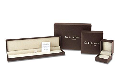Carissima Gold Damen-Armband 9ct Yellow Hollow Curb Bracelet 18.5cm/7.25 375 Gelbgold-1.23.4851 -