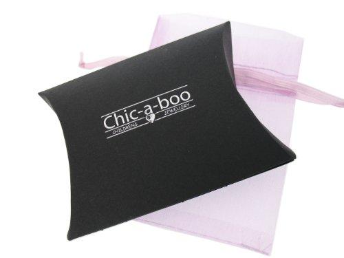 Chic A Boo Armband mit Herz-Anhänger Sterlingsilber Swarovski-Kristall cremefarbene Perlen Länge 17cm -