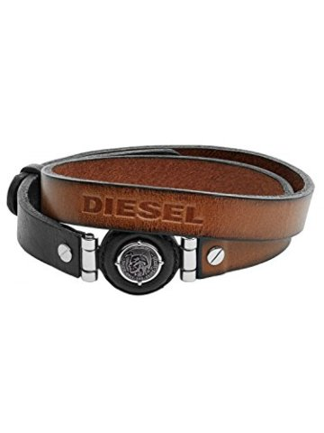 Diesel Leder Herrenarmband Leather Specs DX1021040 -